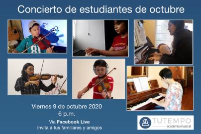 Afiche concierto estudiantes octubre